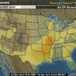 weather.com mold spores map